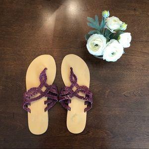 EUC Urban Outfitter Ecote Purple Sandals Size 7